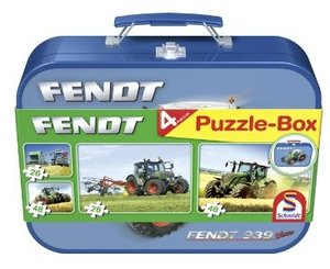 Fendt - Puzzle-Box 2 x 26, 2 x 48 Teile im Metallkoffer
