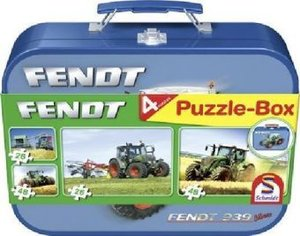 Fendt - Puzzle-Box 2 x 26, 2 x 48 Teile im Metallkoffer