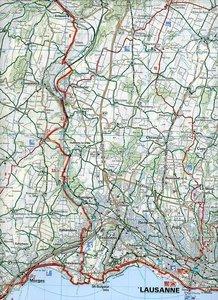 KuF Schweiz Radkarte 14 Lausanne - Vallée de Joux 1 : 60 000