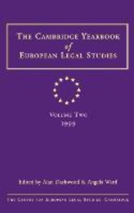 Cambridge Yearbook of European Legal Studies Volume 2, 1999