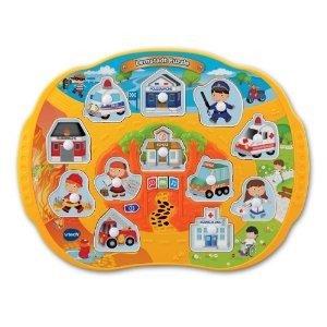 VTech Baby 80-132504 - Lernstadt Puzzle