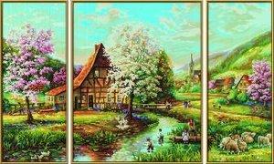 Schipper 609260664 - Malen nach Zahlen Triptychon - Ländliche Id
