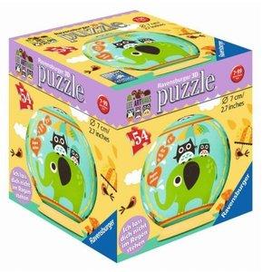 Ravensburger 11907 - Freundschafts-Eulen, 3D Puzzle Ball, 54 Tei