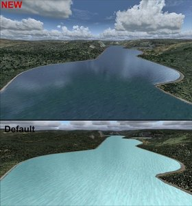 Flight Simulator X - FSX Water & Clouds für Flugsimulator FS2004