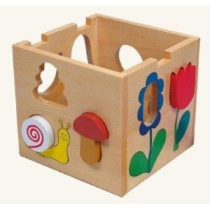 Bino 84165 - Florell: Holzbox mit Steckklötzchen