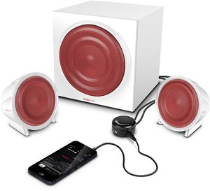 JUGGER 2.1 Aktives Subwoofer System, white