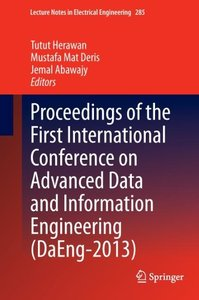 Proceedings of the First International Conference on Advanced Da