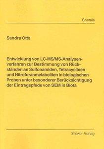 Entwicklung von LC-MS/MS-Analysenverfahren zur Bestimmung von Rü