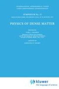 Physics of Dense Matter