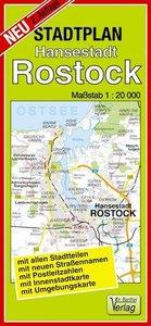 Hansestadt Rostock Stadtplan 1 : 20 000