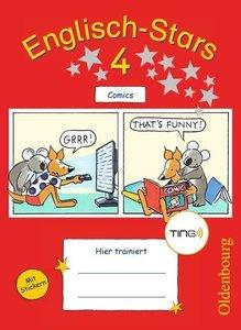 Englisch-Stars 4. Schuljahr. Übungsheft Comics mit Tingfunktion