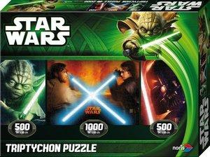 Star Wars-EP 2/3 Tript. Puzzle Jedi vs Sith