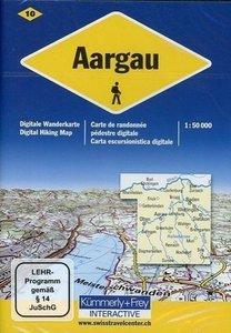 KuF Schweiz Digitale Wanderkarte 10 Aargau 1 : 50 000