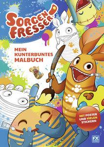 Gerd Hahns Sorgenfresser: Mein kunterbuntes Malbuch
