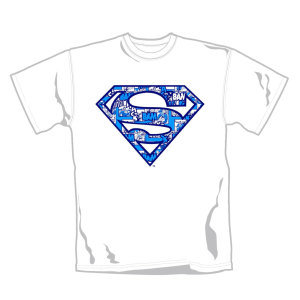 White Shirt Blue Logo (T-Shirt Größe L)