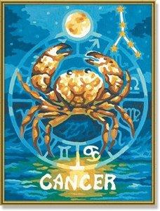 Schipper 609390675 - Malen nach Zahlen - Tierkreiszeichen Krebs,