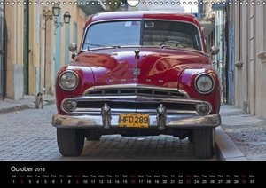 On the road in Cuba (UK-Version) (Wall Calendar 2016 DIN A3 Land