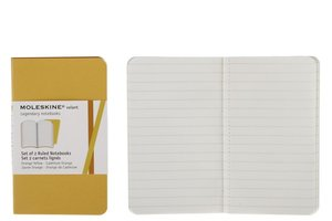 Moleskine Ruled Volant Extrasmall Golden Yellow Cover