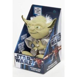 Joy Toy 100172 - Star Wars: Yoda, sprechender Plüsch, 23 cm in D