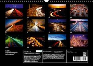 Licht & Geschwindigkeit: Autobahnen (Wandkalender 2016 DIN A3 qu