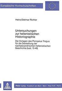 Untersuchungen zur hellenistischen Historiographie