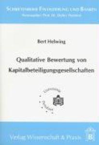 Qualitative Bewertung von Kapitalbeteiligungsgesellschaften