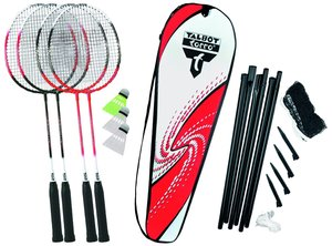 Talbot Torro 449515 - Badminton Set 4-Attacker-Plus mit Netz