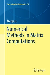 Numerical Methods in Matrix Computations
