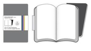 Moleskine Grey Plain Volant Notebook P. 2 Notebooks in 2 Shades