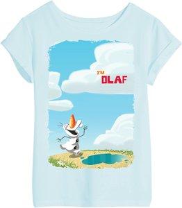 Disney Eiskönigin - Olaf - T-Shirt - Blau - Größe 9-10 Jahre