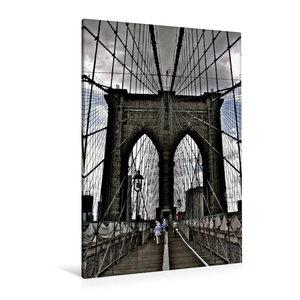 Premium Textil-Leinwand 80 cm x 120 cm hoch Brooklyn Bridge