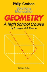 Solutions Manual for Geometry