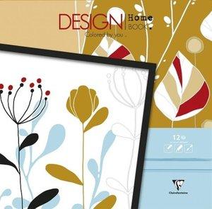 Malbücher verleimt für Erwachsene: Design Home Book 30 x 30 cm O
