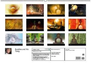 Buddha und Yin Yang (Wandkalender 2016 DIN A2 quer)