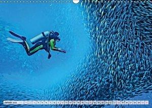 Unterwasserart (Wandkalender 2016 DIN A3 quer)