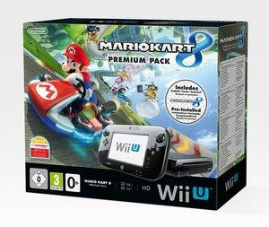 Nintendo Wii U - Premium Pack 32 GB Black inkl. Mario Kart 8 (vo