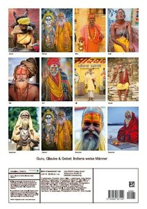 Guru, Glaube & Gebet: Indiens weise Männer (Posterbuch DIN A3 ho