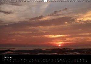 Crépuscules sur la plage (Calendrier mural 2015 DIN A3 horizonta