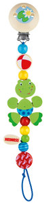 Goki 35170 - Schnullerkette Frosch, Holz
