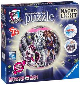 Nachtlicht Monster High. 3D Puzzle-Ball 72 Teile