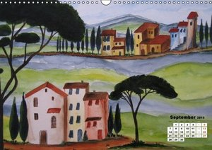 Tuscany in Watercolour / UK-Version (Wall Calendar 2015 DIN A3 L