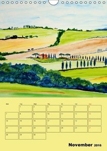Beautiful Tuscany (UK-Version) (Wall Calendar 2016 DIN A4 Portra