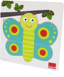 Goula Holzpuzzle 3 Stufen Schmetterling