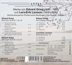 Werke Von Edvard Grieg Und Lars-Erik Lar
