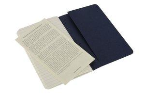 Moleskine Cahier Pocket Ruled Navy Cover P. 3er Pack