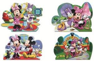 Disney Minnie Mouse - 4 in 1 Konturenpuzzles