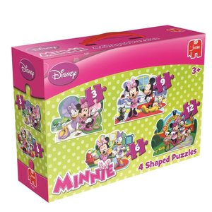 Disney Minnie Mouse - 4 in 1 Konturenpuzzles