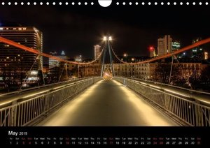 Frankfurt Skylights / UK-Version (Wall Calendar 2015 DIN A4 Land