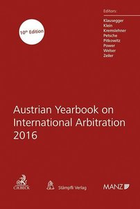 Austrian Yearbook on International Arbitration 2016