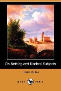 On Nothing and Kindred Subjects (Dodo Press)